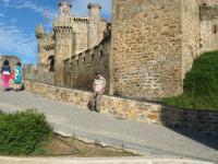 Sur le chemin qui monte au château