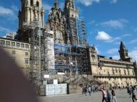La facade de la cathedrale de santiago en 2016